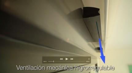 Sistema de ventilación existente en el edificio Kubes