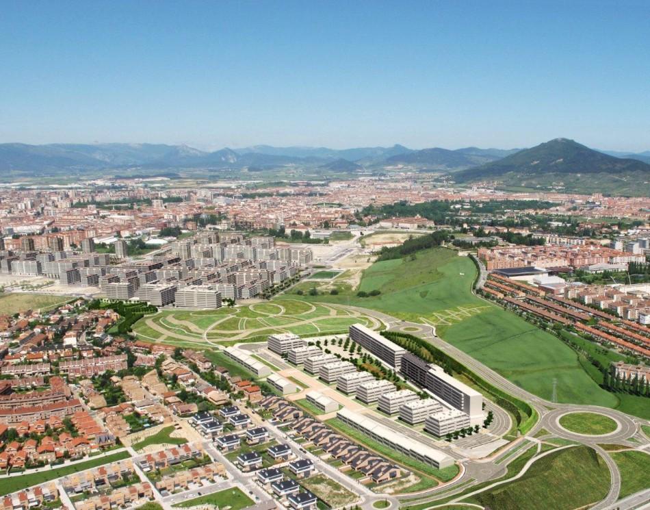 Abaigar vista aérea de la Urbanización Mugartea Pamplona-Mutilva