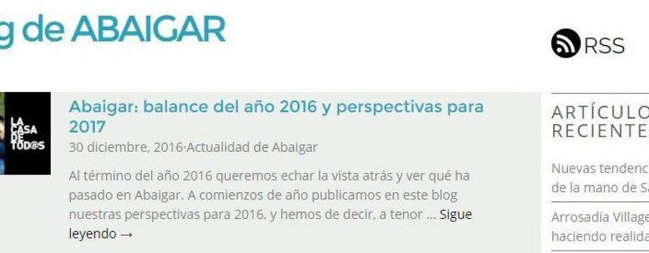 Descatado Home el blog de Abaigar balance 2016-2