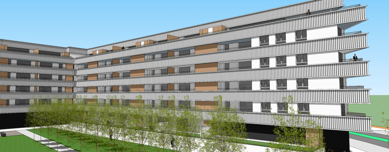 Proyecto promoción viviendas en Parque Txantrea Sur